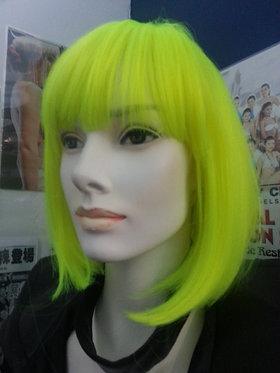 Wig Shoulder Length Neon