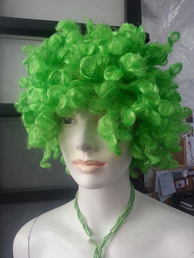 Wig Afro Green