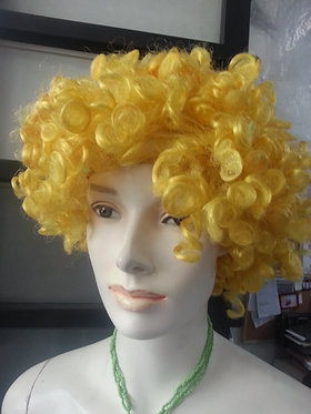 Wig Afro Yellow