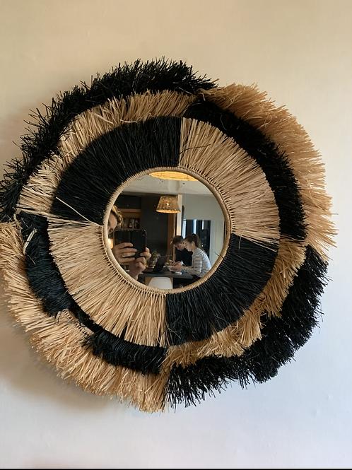 Grand Miroir rafia 85 cm