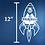 "Thumbnail: 12"" Tall Rocket Ship Monogram"