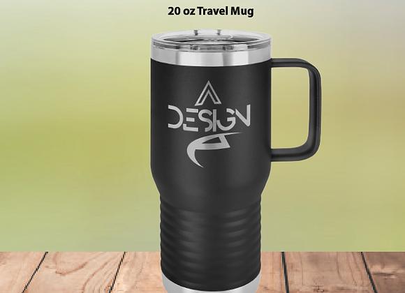 20oz Travel Mug W/Clear Lid