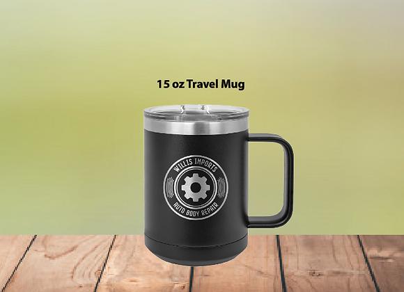 15oz Travel Mug W/Clear Lid