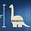 """Thumbnail: 12"""" tall Dyplodocus Dino Monogram"""
