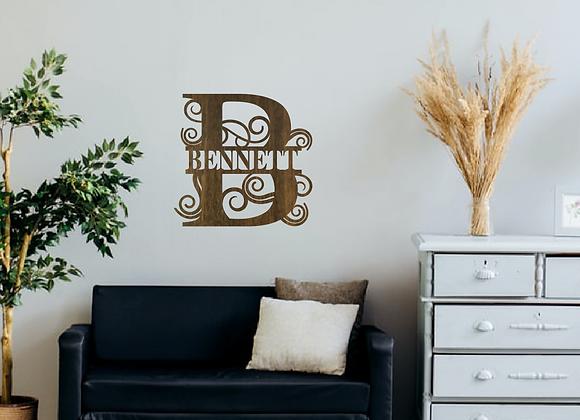 Letter Monogram Sign