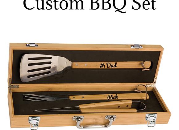 Custom Engraved BBQ Set