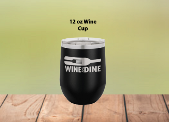 12oz Stemless Wine Cup W/Clear Lid