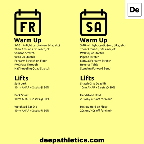 Olympic lifting workouts