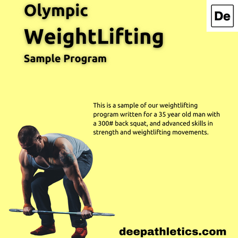 Sample Olympic lifter