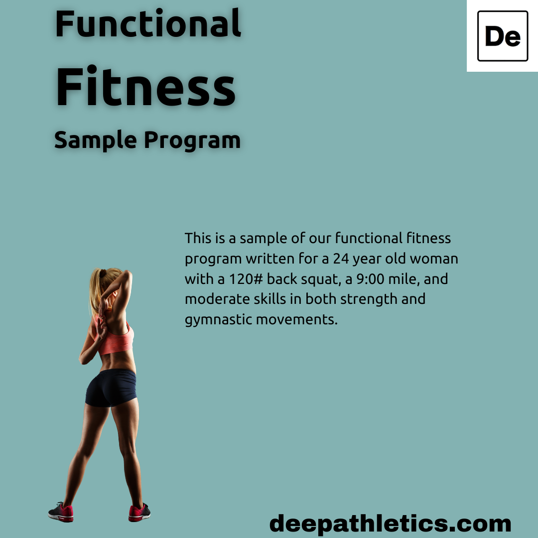 Sample functional fitness athlete