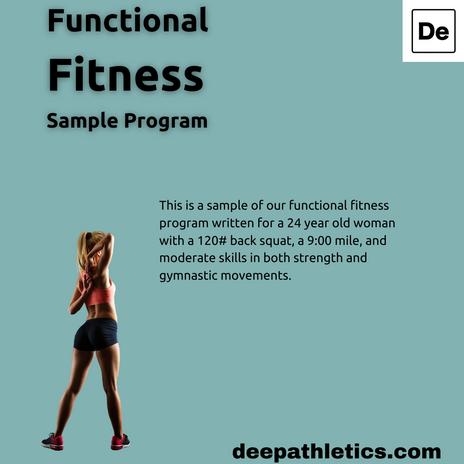 Sample functional fitness athlete