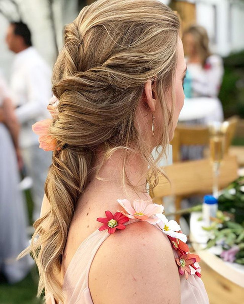 Whimsical Locks with a touch of coral Fl