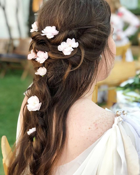 Whimsical Locks with a touch of blush Fl
