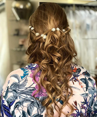 Lovely Whimsical Bridesmaid hair done by