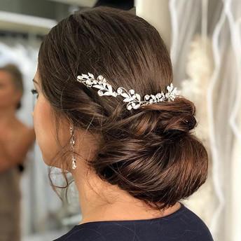 Romantic chignon bun on _tamzstrauss by