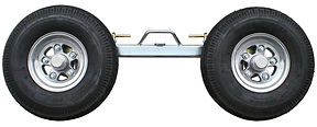 Tow truck equipment: Collins Hi Speed Dolly side frame 4.80 x 8 tires, with aluminum wheels and aluminum hubs