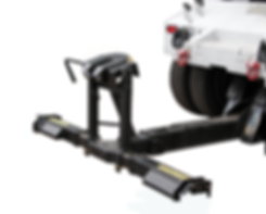 Collins fifth wheel lift hitch mounted to tow truck wheel lift