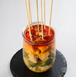 鳥串の麻辣風味