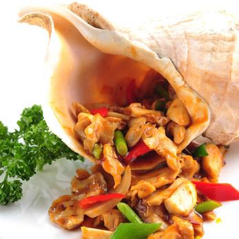 ポルチーニとつぶ貝の炒め