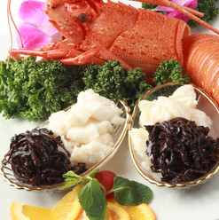 伊勢海老と香茸の炒め