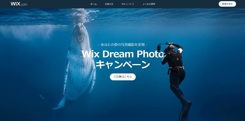 あなたの夢の写真撮影を実現|Wix Dream Photoキャンペーン