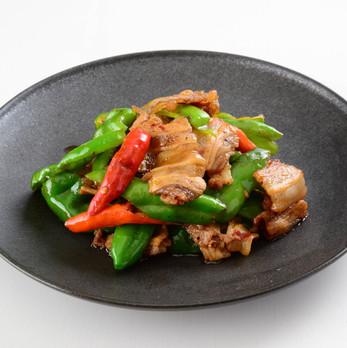 豚肉と唐辛子の炒め