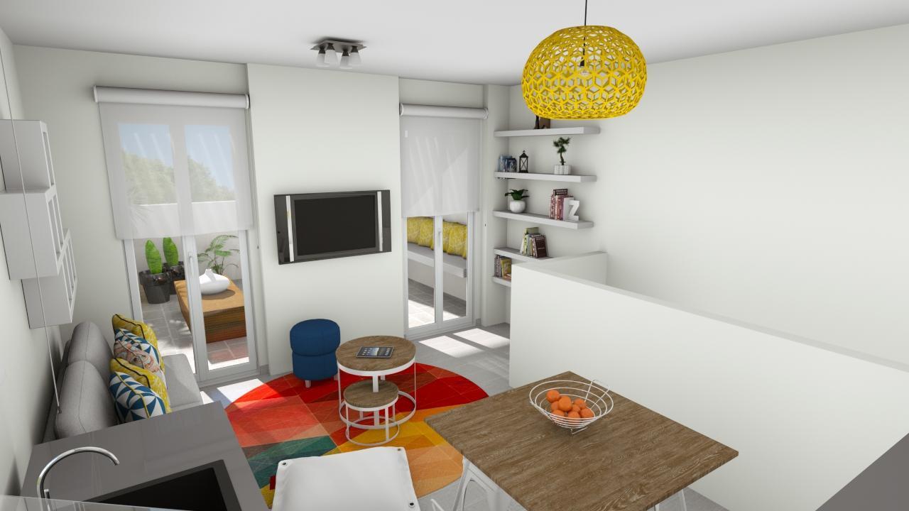 Livingroom 1stfloor view from kitchen.jp