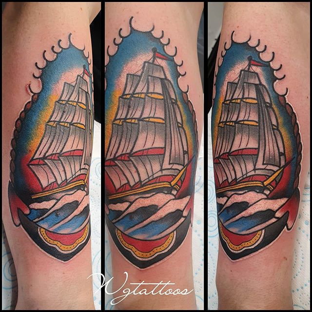 ship gallion tattoo