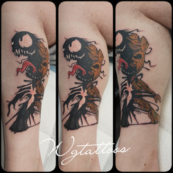 groot and venom tattoo