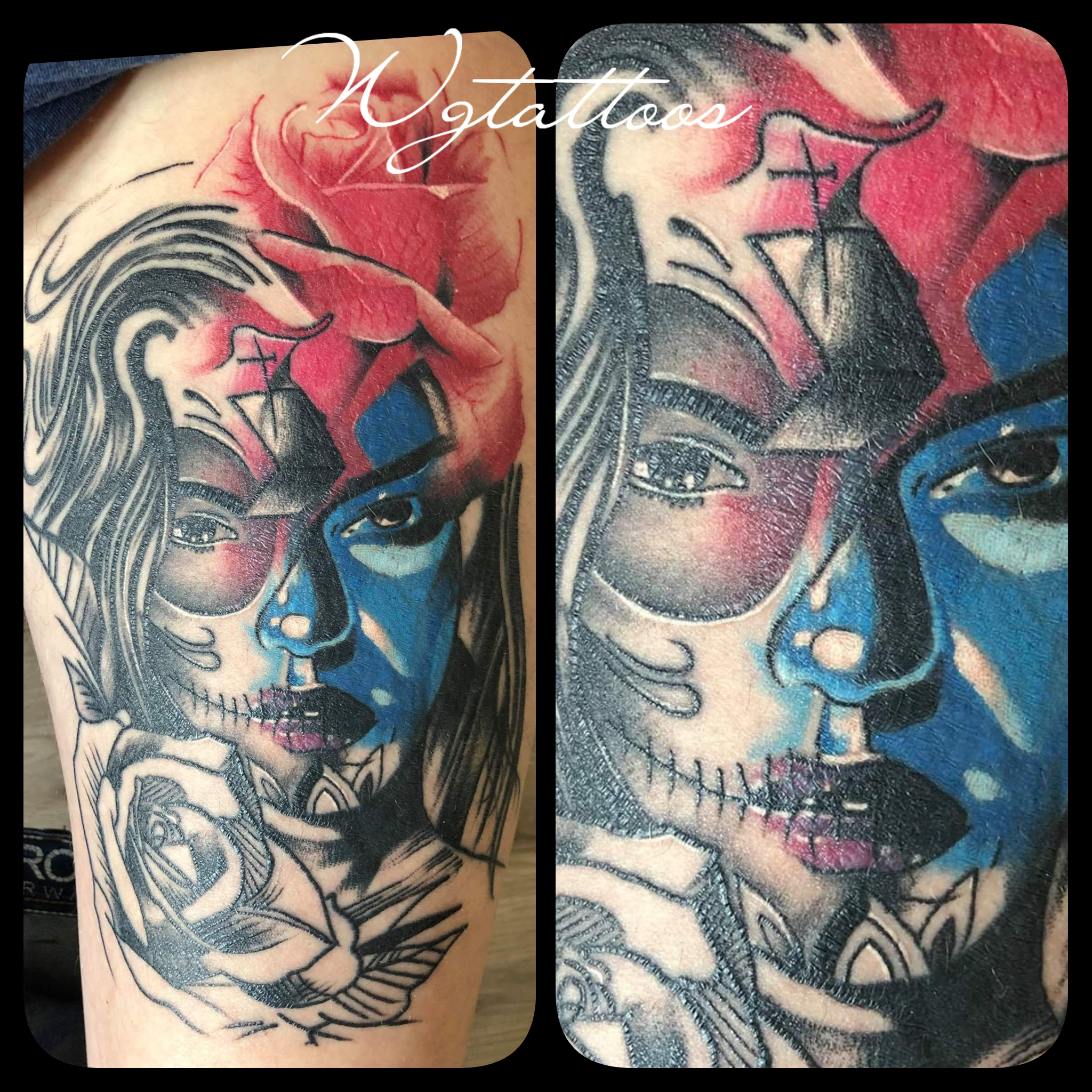 abstract colour tattoo