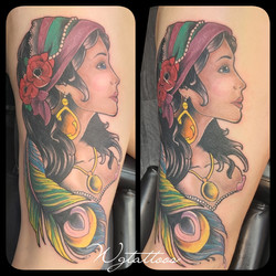 gypsy woman tattoo