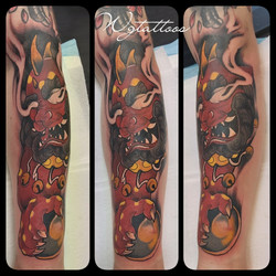 oriental colour tattoo
