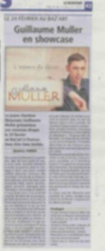 """Journal Le Résistant, Guillaume Muller présente """"L'envers du décor"""", son premier album"""