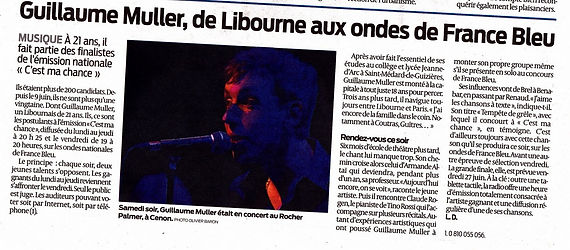 Journal Sud Ouest Guillaume Muller