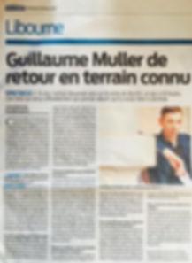 """Journal Sud Ouest, Guillaume Muller présente """"L'envers du décor"""" à Libourne"""