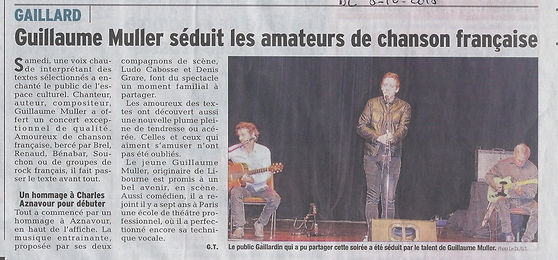 le dauphinié libéré gaillard concert Guillame Muller