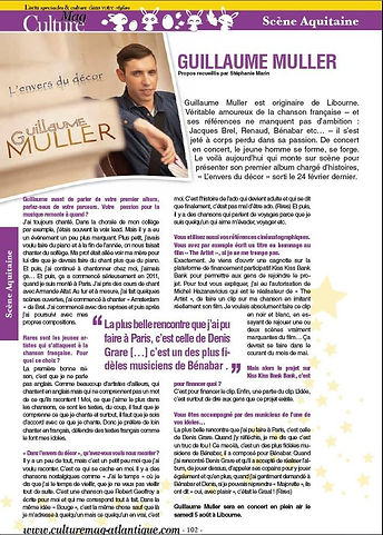 Guillaume Muller l'envers du décor article presse