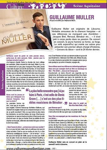 Guillaume Muller l'envers du décor article presse