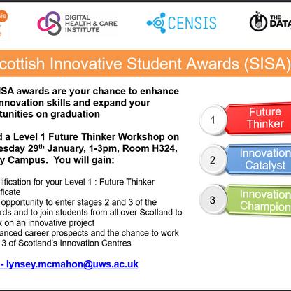 SIE SISA Award 29th January Paisley workshop