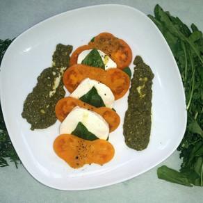 Arugula, Carrot Tops & Radish Greens Pesto