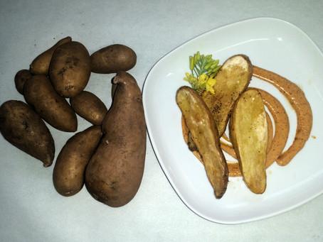 Russian Potato Steak Fries with Dip