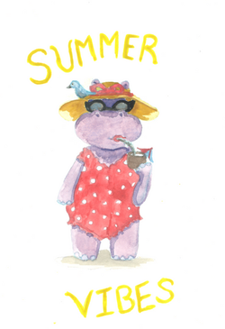 _Summer Vibes_ Baby Phoebe the Hippo