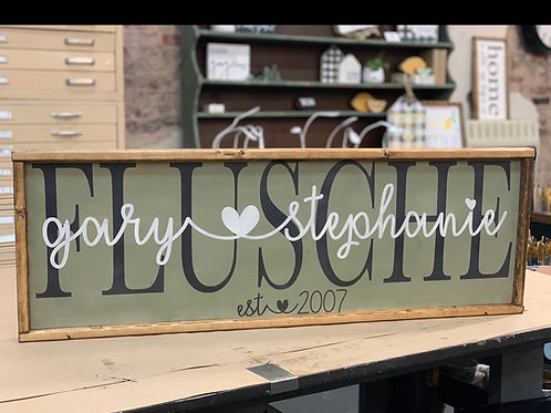 PERSONALIZED LAYERED NAME W/ HEART