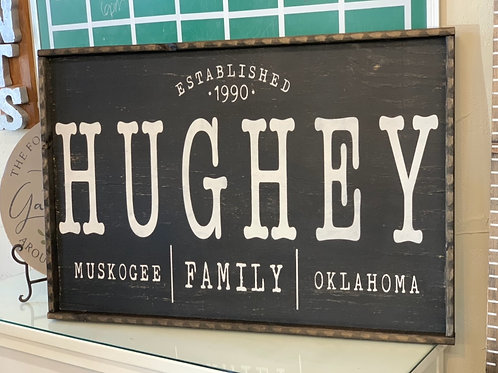 PERSONALIZED EST. TOWN HUGHEY