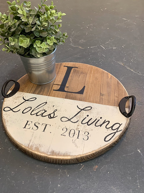 PERSONALIZED LAZY SUSAN OR TRAY