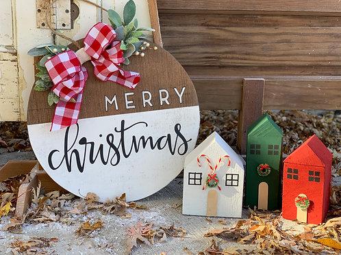 MERRY CHRISTMAS DOOR HANGER
