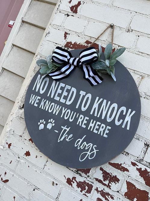 """18"""" DOOR HANGER NO NEED TO KNOCK"""