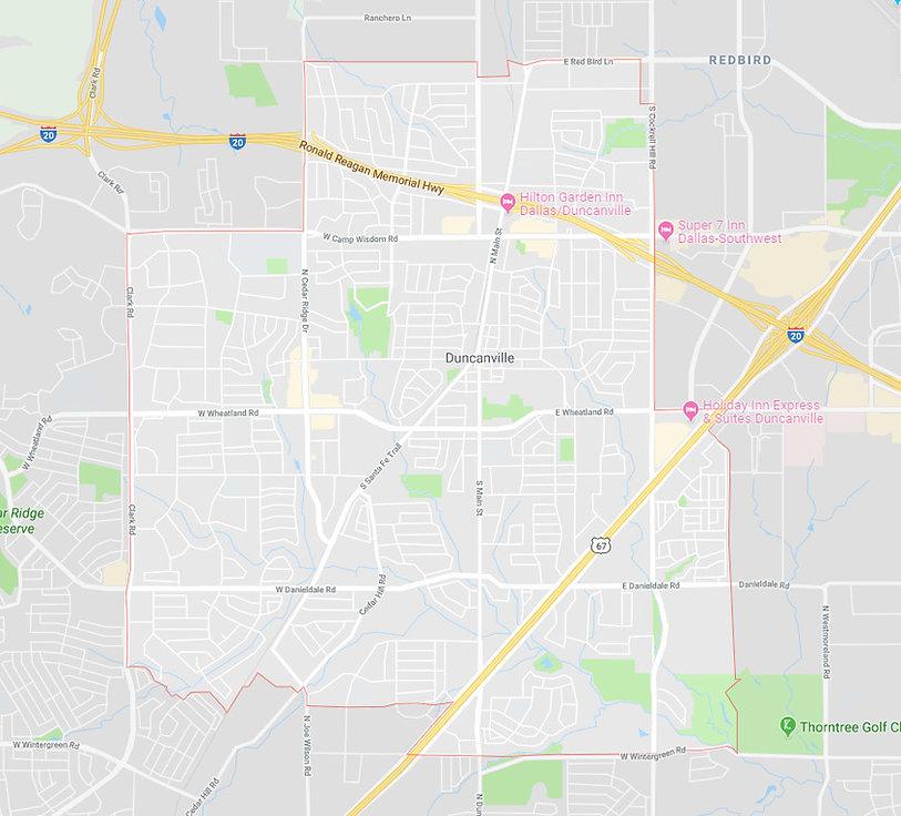 Duncanville Texas Painters Service Area.
