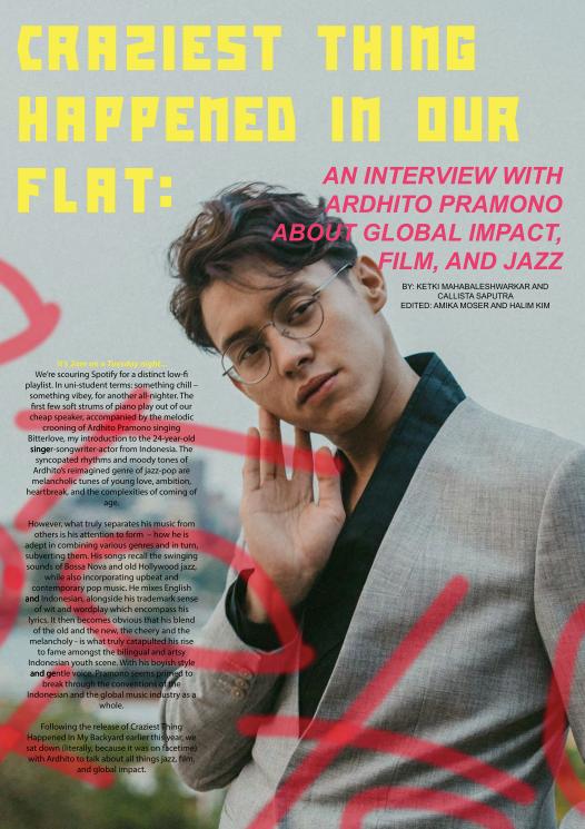 Photo of Ardhito Pramono - Article designed by Morgan Bakinowski for Strand Magazine's 2020 Summer Issue