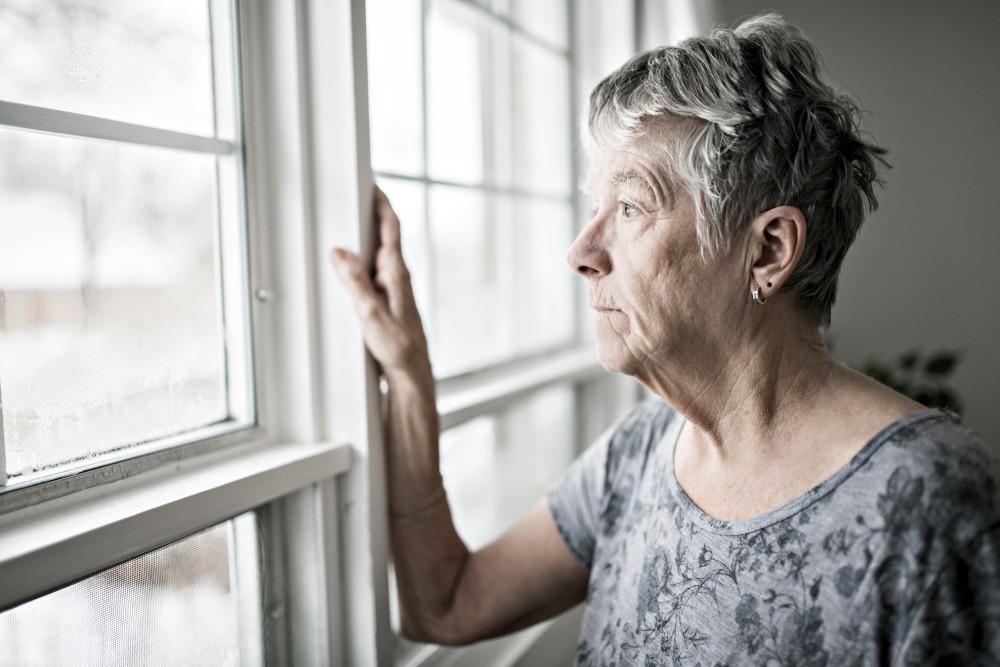 senior with seasonal affective disorder